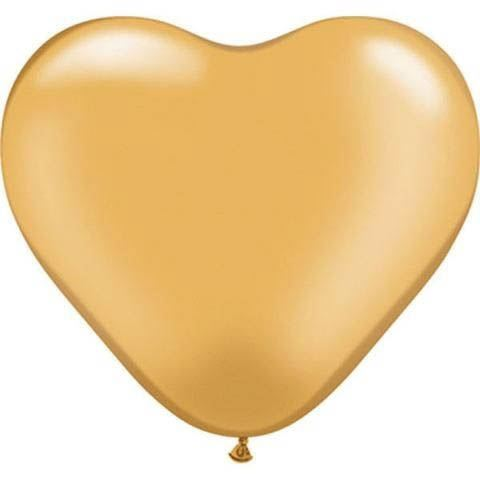 Qualatex Herzballon Gold 15cm