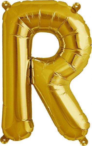 Luftballon Buchstabe R Gold 40cm