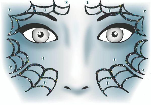 Face Art Sticker - Spinne