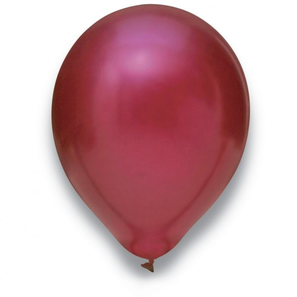 Latexballon Metallic Burgund 50 Stück Ø 30cm