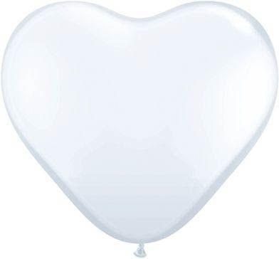 Latexballon Herz White Pastel Ø 45cm