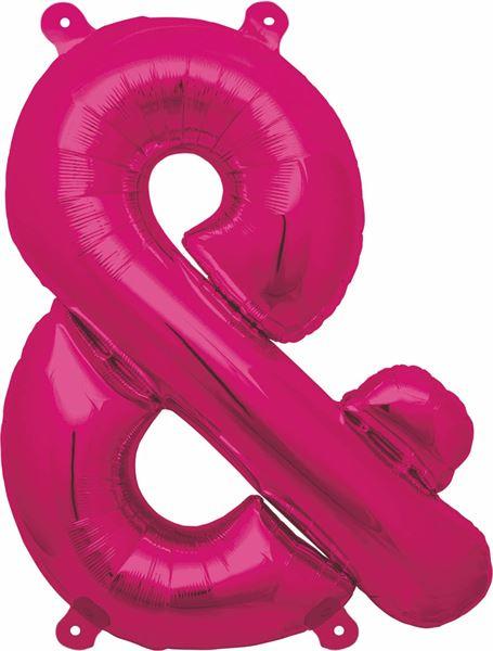 Luftballon Sonderzeichen & Pink 40cm