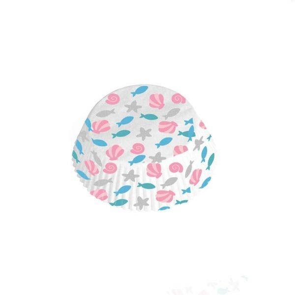 Meerjungfrau - 48 Muffinförmchen