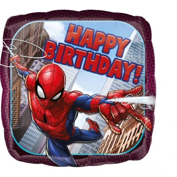 "Folienballon Spiderman ""Happy Birthday"" 43cm"