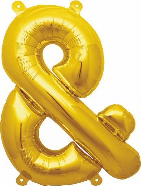 Luftballon Sonderzeichen & Gold 40cm