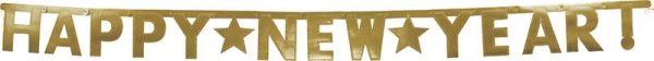Gold Glitzer Banner Happy New Year