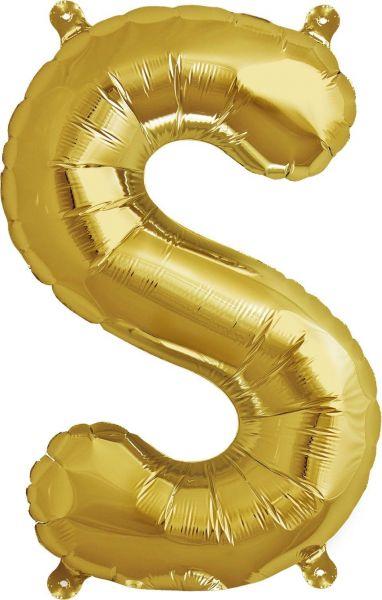 Luftballon Buchstabe S Gold 40cm
