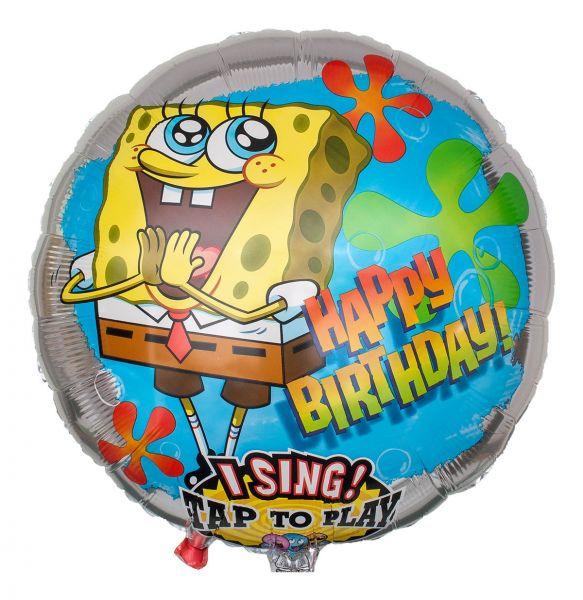 Musikballon Happy Birthday singender SpongeBob 71cm
