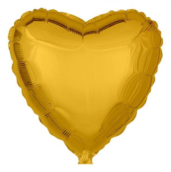 Folienballon Herz Gold 45cm