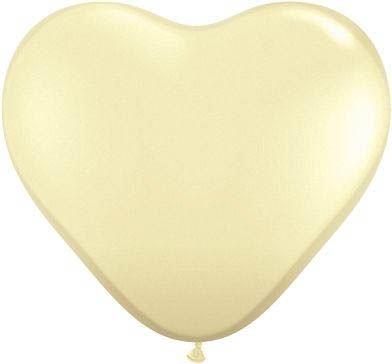 Qualatex Herzballon Elfenbein 15cm