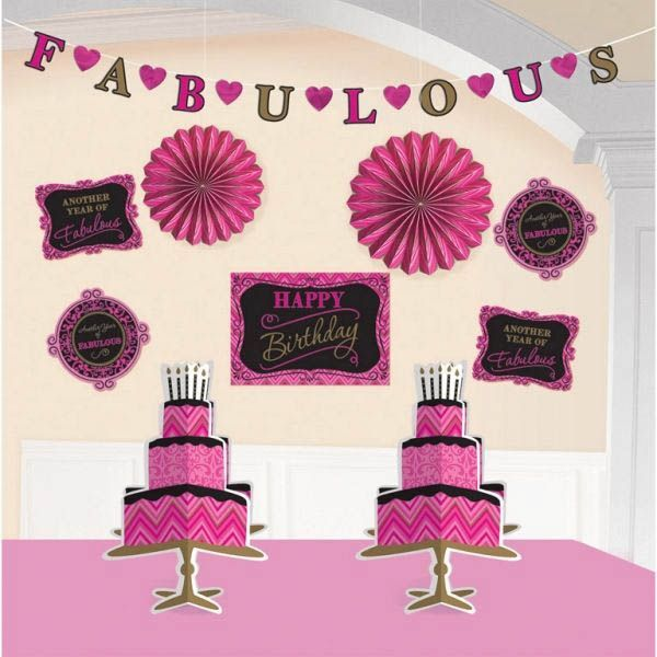Born To Be Fabulous - Geburtstags-Deko-Set 10 tlg.