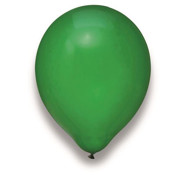 Latexballon Kristall Grün 100 Stück Ø 30cm