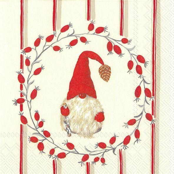 Weihnachtsmännchen - 20 Cocktail Servietten