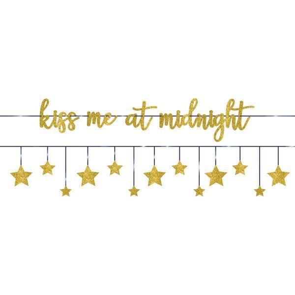 "Girlande ""Kiss me at midnight"""
