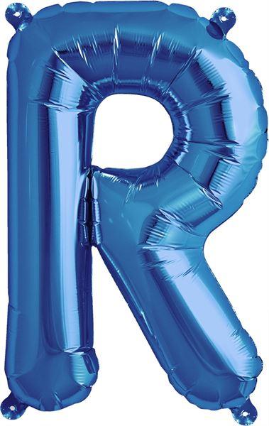 Luftballon Buchstabe R Blau 40 cm