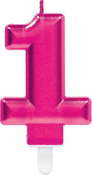 """Sparkling Celebrations Pink - Zahlenkerze """"1"""""""