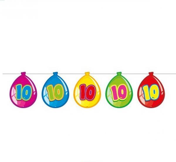 Luftballon-Wimpelkette zum 10. Geburtstag