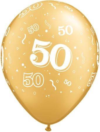 Qualatex Ballon 50 Geburtstag Gold 30cm Geburtstag Bedruckte