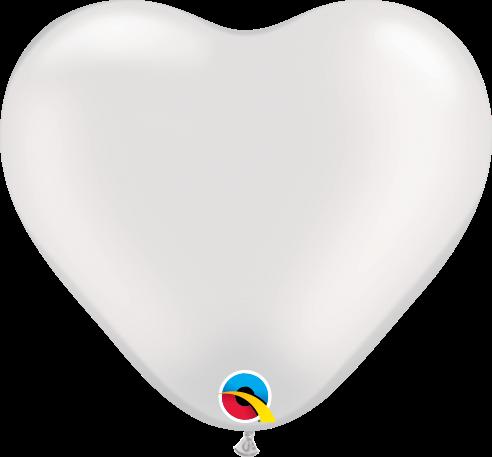 Qualatex Latexballon Herz Pearl White Ø 15cm