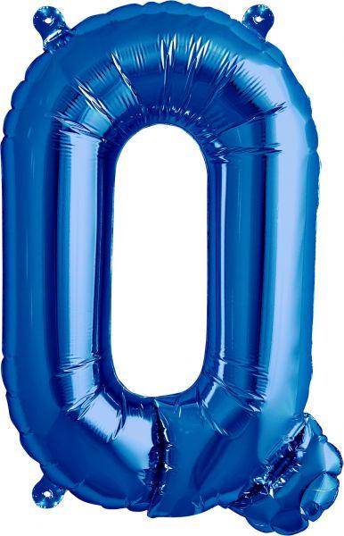 Luftballon Buchstabe Q Blau 40cm