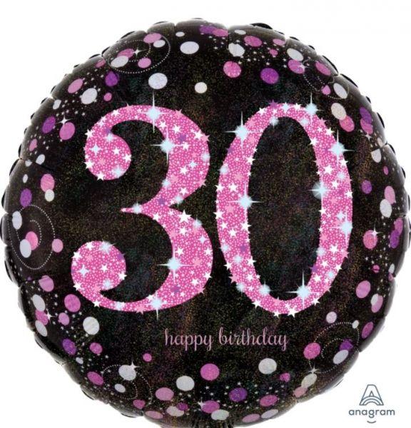 """Folienballon Pink Celebration """"30"""" 43cm"""