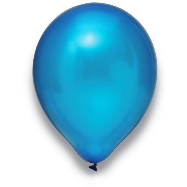 Latexballon Metallic Blau 50 Stück Ø 30cm