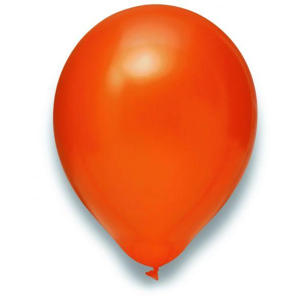 Latexballon Metallic Orange 100 Stück Ø 30cm