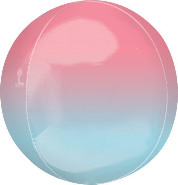 Orbz Ballon Ombré Rot & Blau 40cm