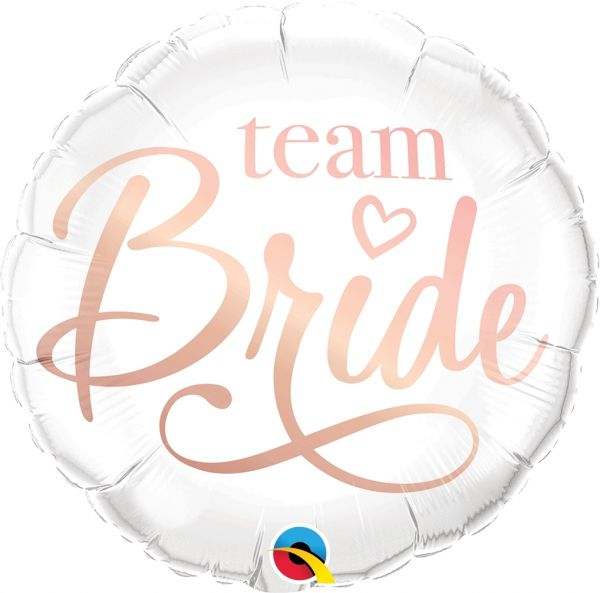 "Folienballon zum JGA ""Team Bride"" 46cm"