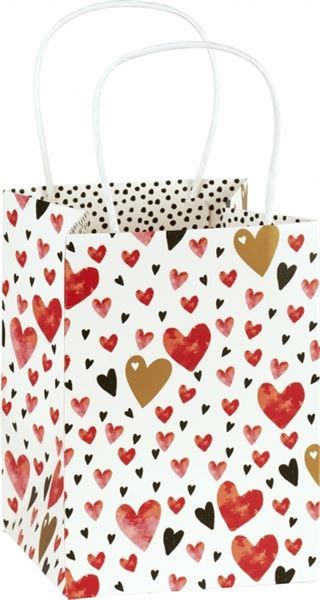 Liebe - Geschenktasche mit Herzen