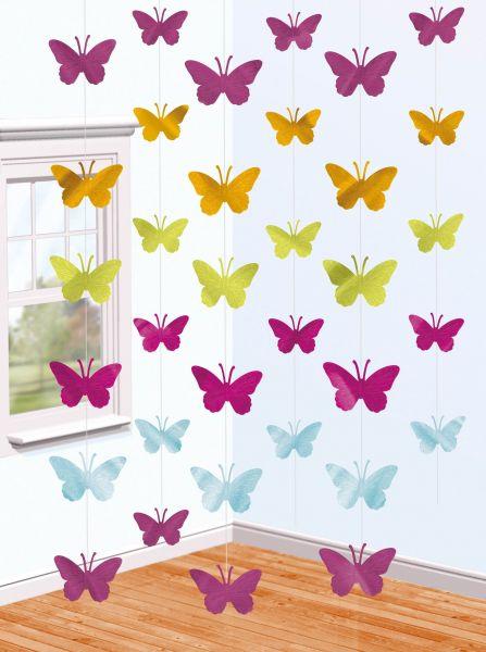 Schmetterling - 6 Deko-Hänger