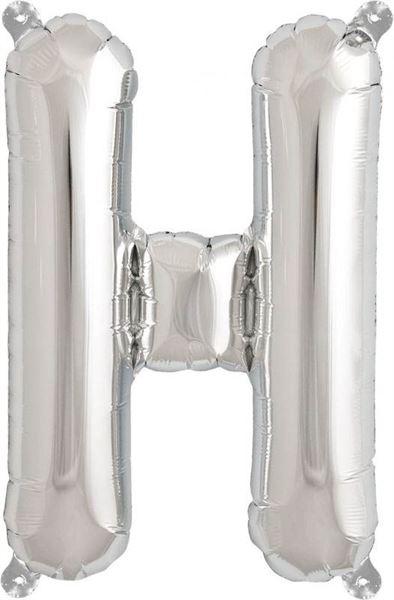 Luftballon Buchstabe H Silber 40 cm