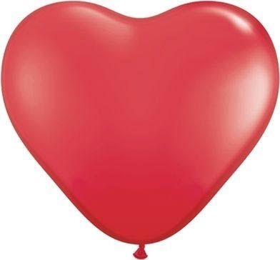 Latexballon Herz Red 35cm Ø 35cm