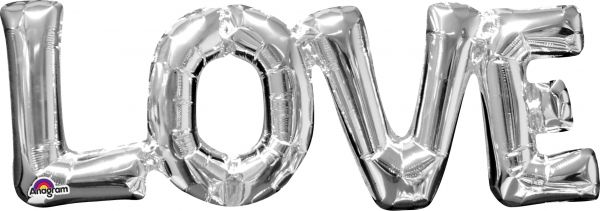 Folienballon-Girlande Love LOVE
