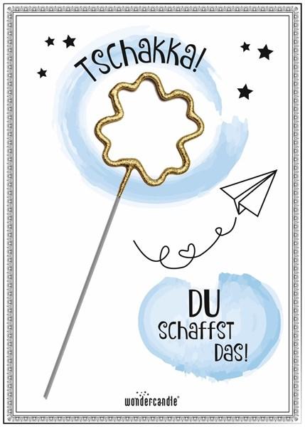 Mini Geschenkkarte - Tschakka Papierflieger Kleeblatt Gold