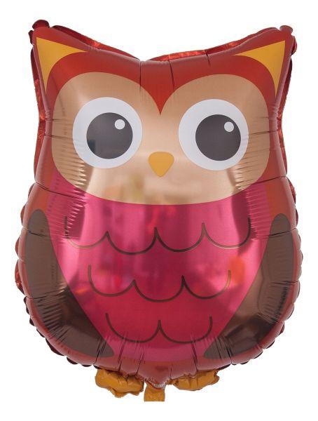 Folienballon Waldtier Eule 66cm
