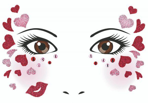 Face Art Sticker - Love