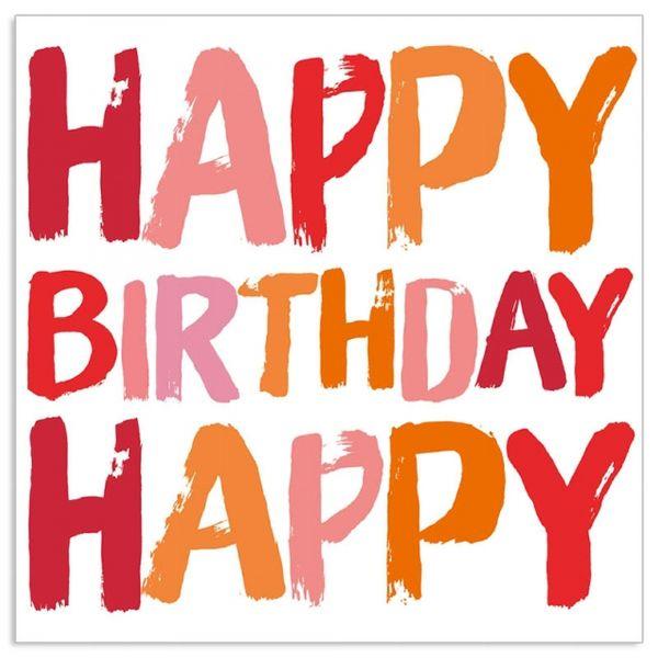 """20 Geburtstags-Servietten """"Happy Birthday"""" Melone"""