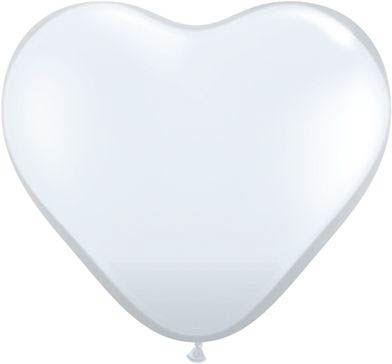 Latexballon Herz Transparent Crystal Ø 45cm