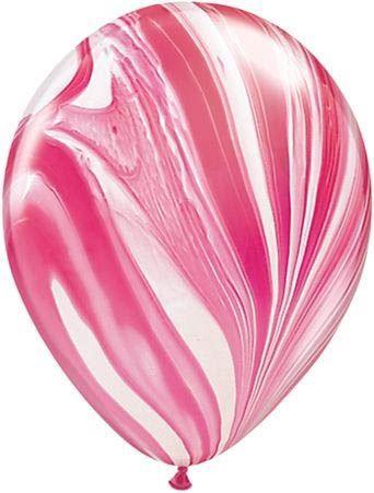Qualatex Latexballon Super Agate Red & White Ø 30cm