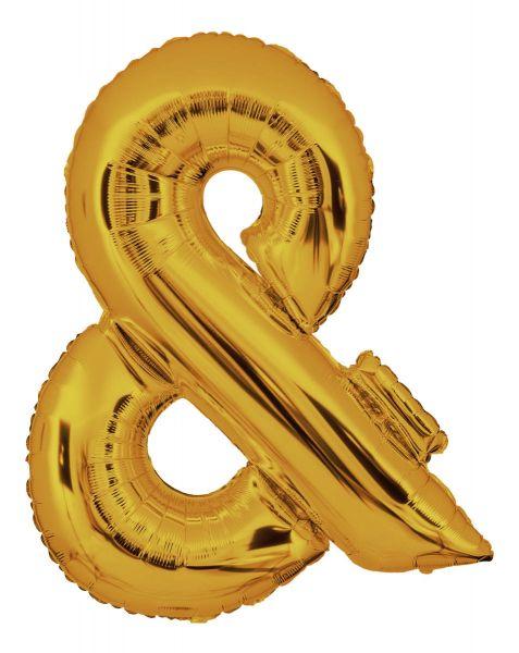 Folienballon Sonderzeichen & Gold 100cm