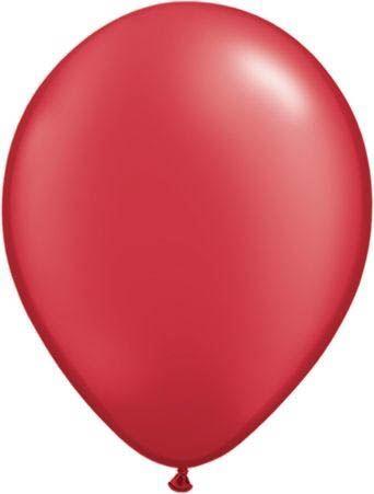 Qualatex Ballon Pearl Rubinrot 30cm