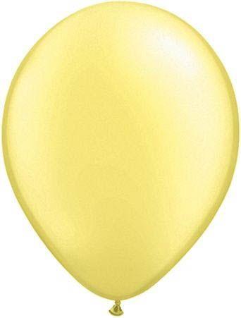 Qualatex Latexballon Pearl Lemon Chiffon Ø 13cm