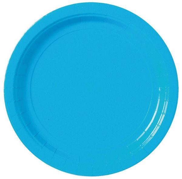 Karibik Blau- 8 Pappteller