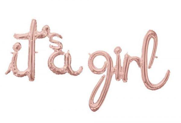 "Folienballon-Girlande Script ""it's a girl"""