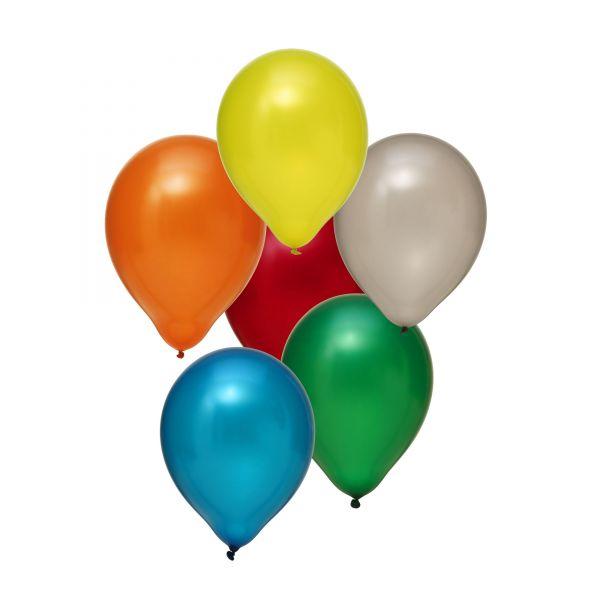 Latexballon Metallic Bunt 100 Stück Ø 30cm
