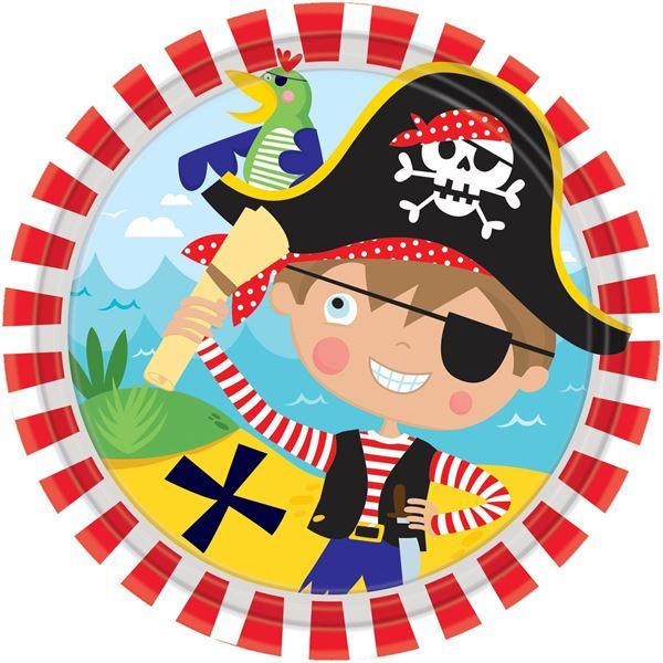 Kleiner Pirat - 8 Kleine Pappteller