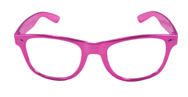 Pinke Party Brille