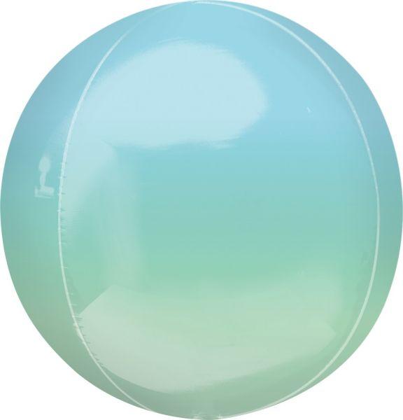 Orbz Ballon Ombré Blau & Grün 40cm