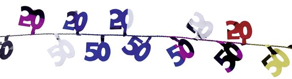 Bunte Draht-Girlande 50. Geburtstag
